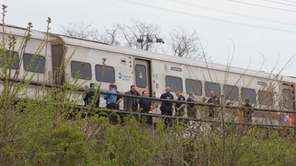 A westbound LIRR train struck a man in