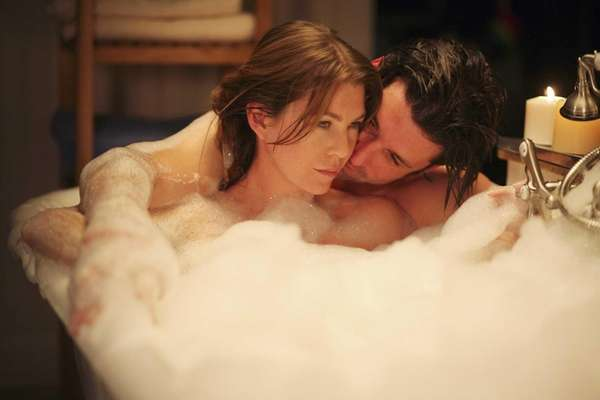 Meredith and Derek on