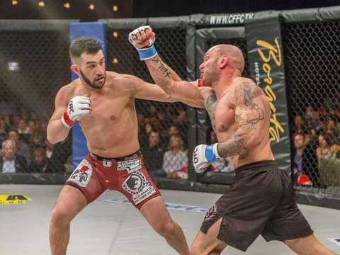 Jared Gordon, left, is a featherweight MMA fighter
