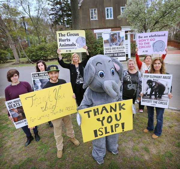 Members of animal advocacy group Long Island Orchestrating