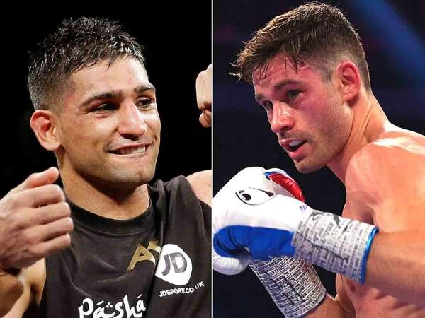 Amir Khan, left, and Chris Algieri are set