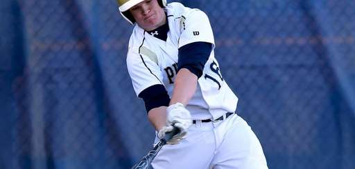 Bayport-Blue Point's Luke Olsson bats in a game