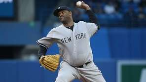 CC Sabathia of the New York Yankees delivers