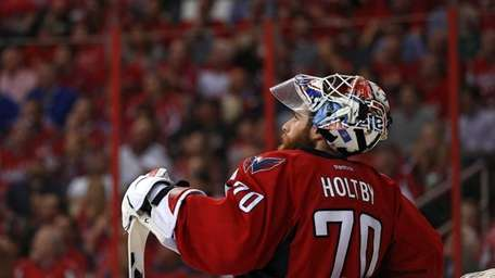 Braden Holtby, goalie for the Washington Capitals, during