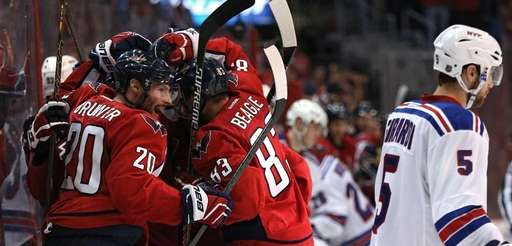 Troy Brouwer of the Washington Capitals and teammates