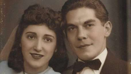 Harold and Fannie Kirshner, at their wedding in