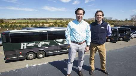 Andrew Lynch, vice president of Hampton Jitney, left,