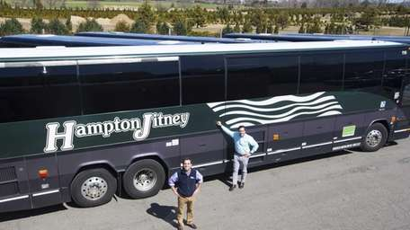 Geoffrey Lynch, president of the Hampton Jitney, left,
