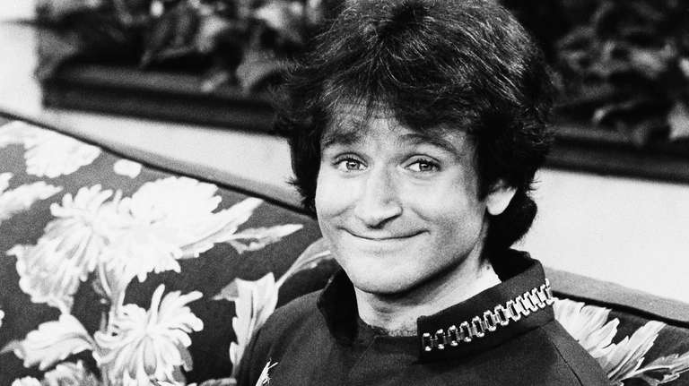 Actor Robin Williams on the set of