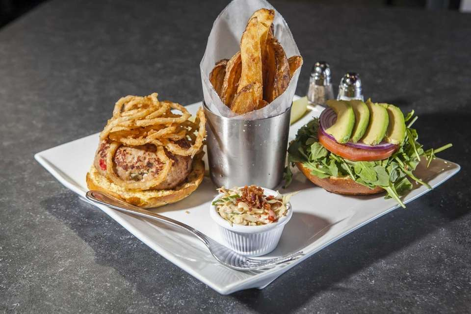 The chargrilled turkey burger is fashioned in-house of