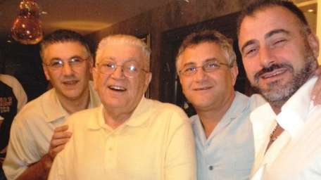 Mel Rosner, second from left, with his sons: