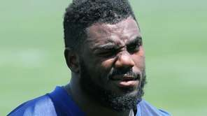 Landon Collins is seen during Giants rookie minicamp