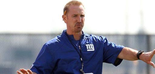 Giants defensive coordinator Steve Spagnuolo is seen during