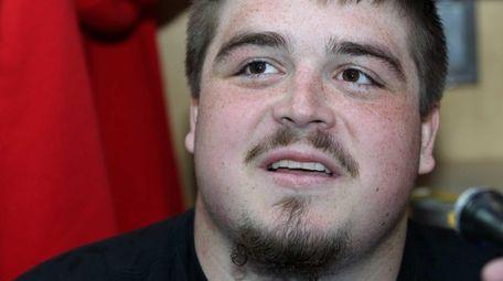 Brett Jones is seen during Giants rookie minicamp