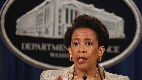 U.S. Attorney General Loretta Lynch speaks about Baltimore