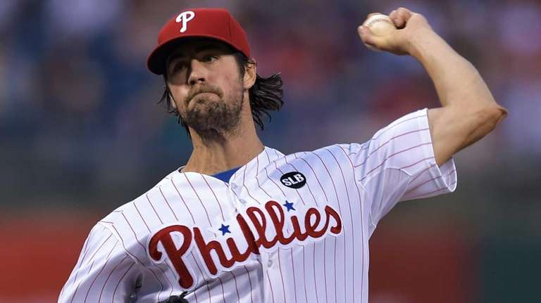 Starting pitcher Cole Hamels of the Philadelphia Phillies