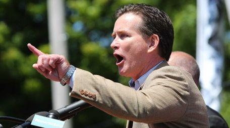 State Sen. John Flanagan (R-East Northport) speaks to
