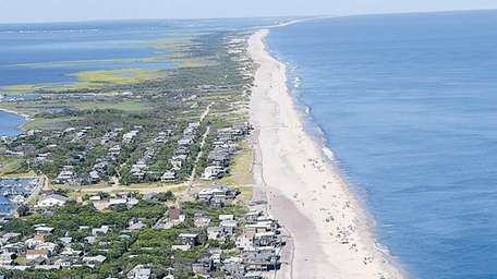 Davis Park on Fire Island is seen from