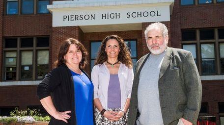 Spanish language teachers Toby Marienfeld, left, Yanina Cuesta,