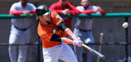 Cody Puckett of the Long Island Ducks drives