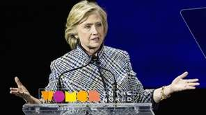 Hillary Clinton at the Women in the World
