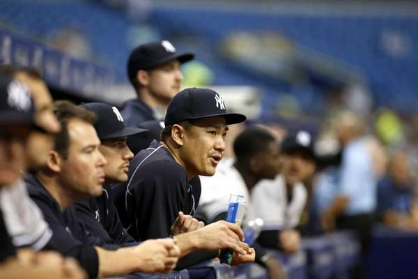 Pitcher Masahiro Tanaka #19 of the New York