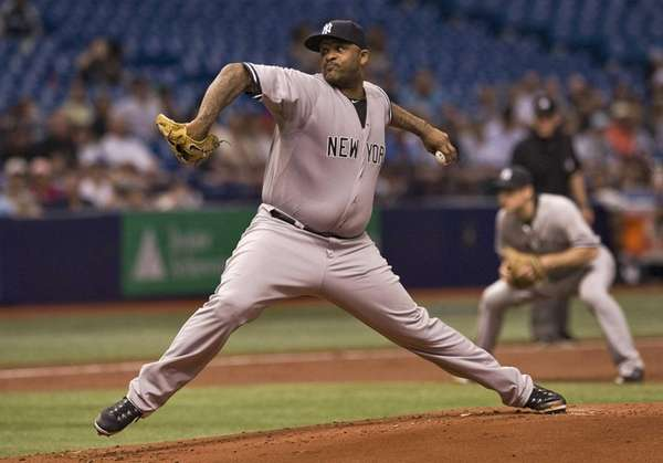 New York Yankees starter CC Sabathia pitches against