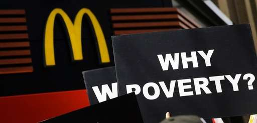 Low wage workers, many in the fast-food industry,