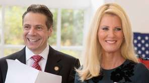 Gov. Andrew M. Cuomo and his girlfriend, TV