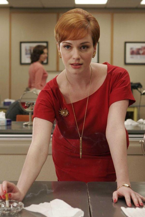 Christina Hendricks as Joan Holloway in season 1