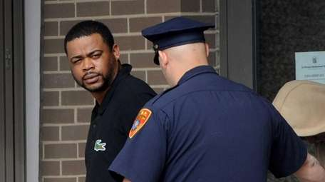 Anthony Franklin, 28, of North Amityville, is led