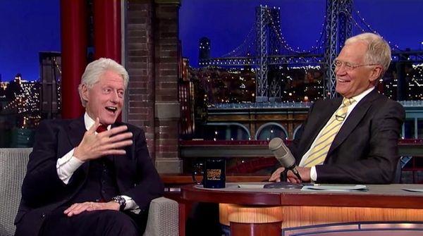 Bill Clinton told David Letterman on May 12,