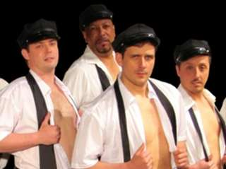 "The men of ""The Full Monty,"" which opened"