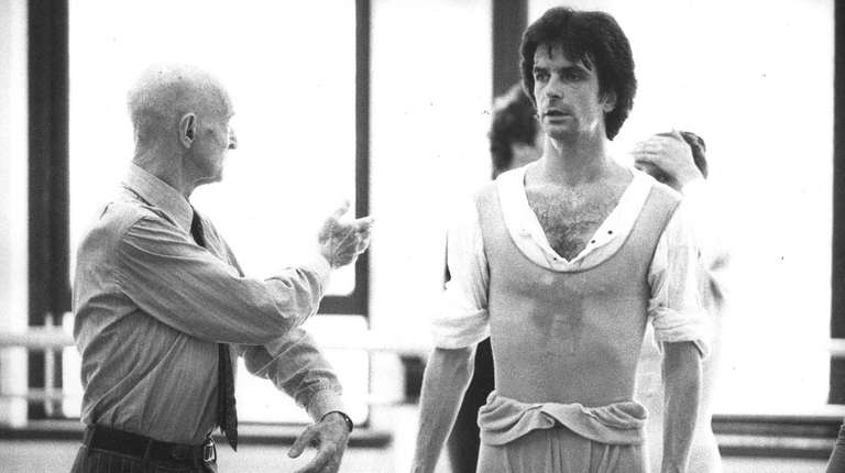 From left, choreographer Antony Tudor coaching American Ballet