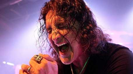 Singer Scott Stapp of Creed performs solo in