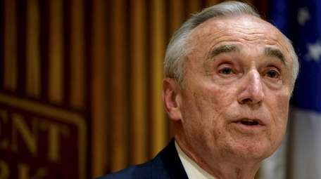 NYPD Commissioner William J. Bratton is shown in