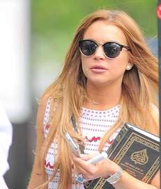 Lindsay Lohan steps out in Brooklyn to do