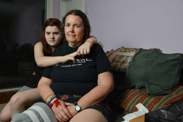 Theresa Imperato, 55, and her daughter Maggie, 12,