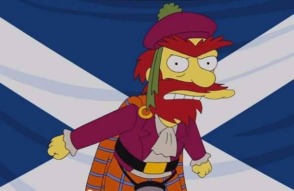 Groundskeeper Willie of The Simpsons.