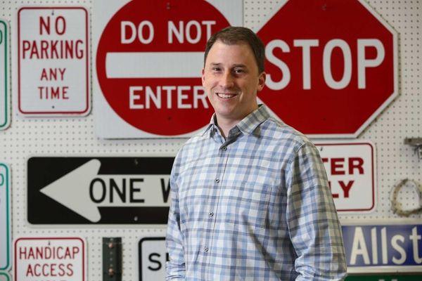 Mark Fick, president of Allstate Sign & Plaque,