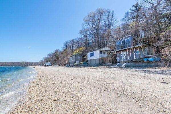 This Setauket house on the beach, listed for