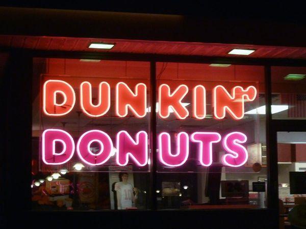 A Dunkin' Donuts shop in Huntington.