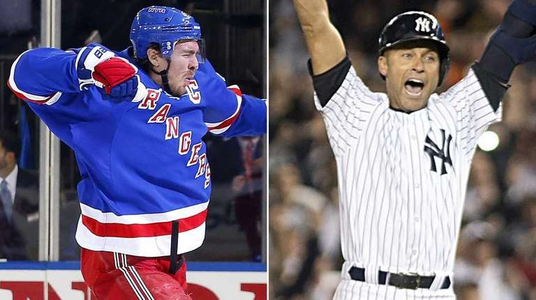 Rangers captain Ryan McDonagh and former Yankees captain