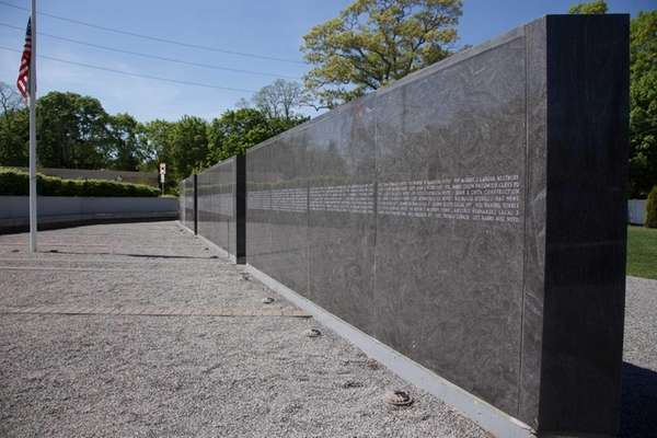 The memorial wall at the 9/11 Responders Remembered