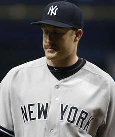 Pitcher Chase Whitley of the New York Yankees
