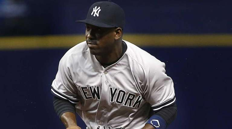 Second baseman Jose Pirela of the New York