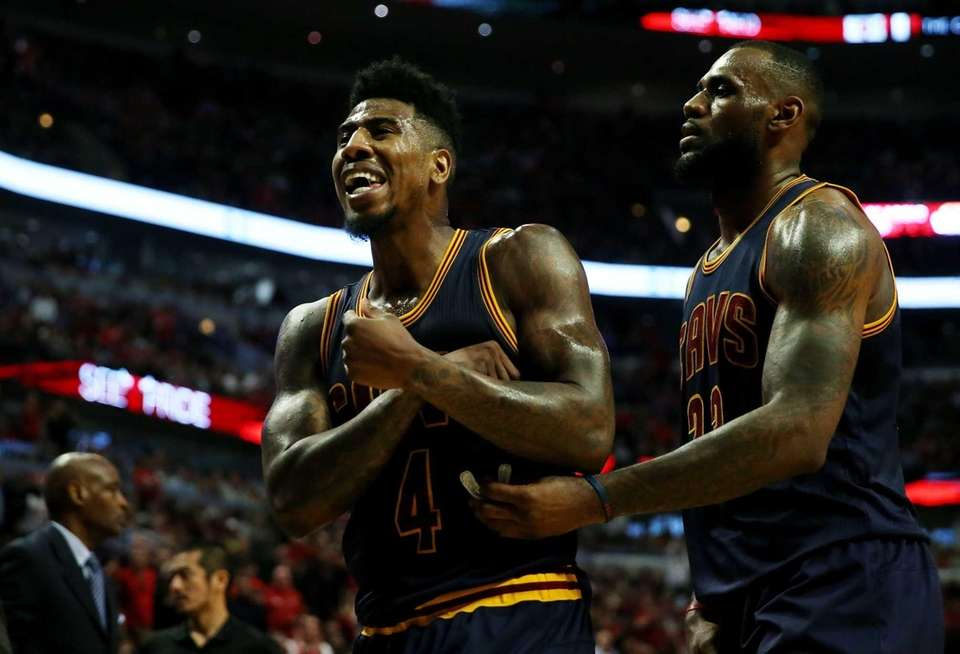 Iman Shumpert and LeBron James of the Cleveland