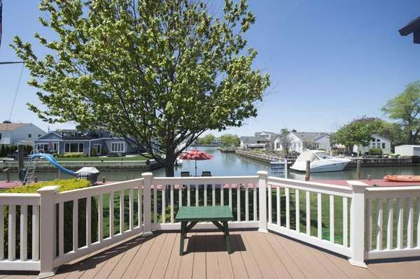 The view from a waterfront home in Amityville,