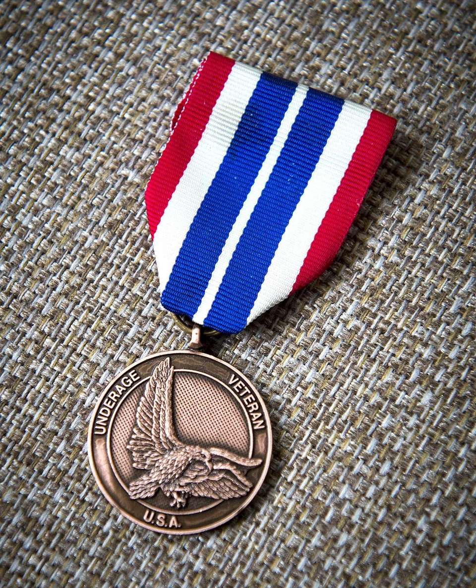 This is a medal Lewis Cianca received from