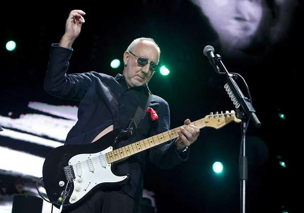 Guitarist Pete Townshend of the British band The
